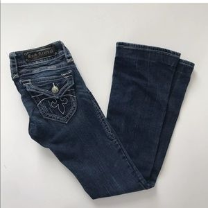 Rock Revival Jeans 25 Gwen Bootcut  Triangle Flap